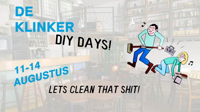 11-14 Aug. Klinker DIY week. Gezellig klussen.