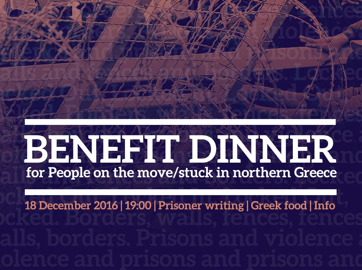 Benefit dinner for people on the move/stuck in northern Greece